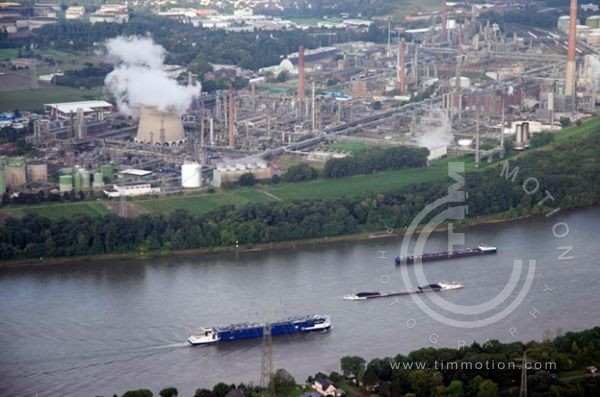COLOGNE. Refinery on banks of the Rhine